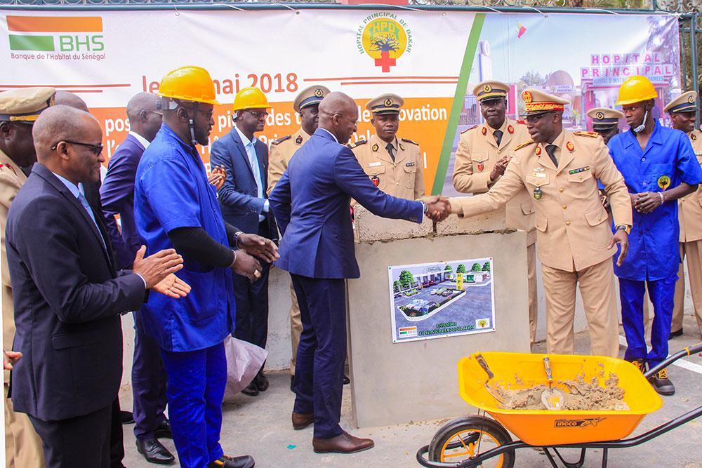 Rénovation devanture Hopital Principal de Dakar : La BHS pose la première pierre