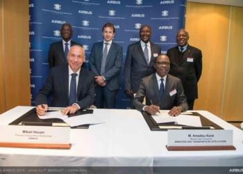 La Côte d'Ivoire collabore avec Airbus  pour développer son industrie aéronautique et spatiale