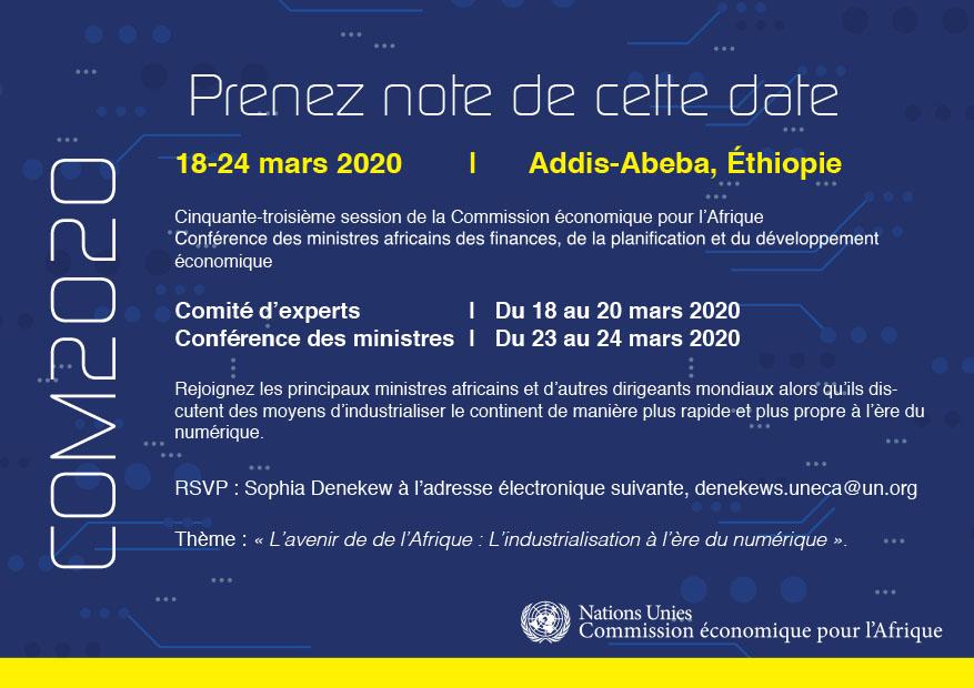 Conférence ministérielle 2020 de la CEA sur l'industrialisation à l'ère du numérique