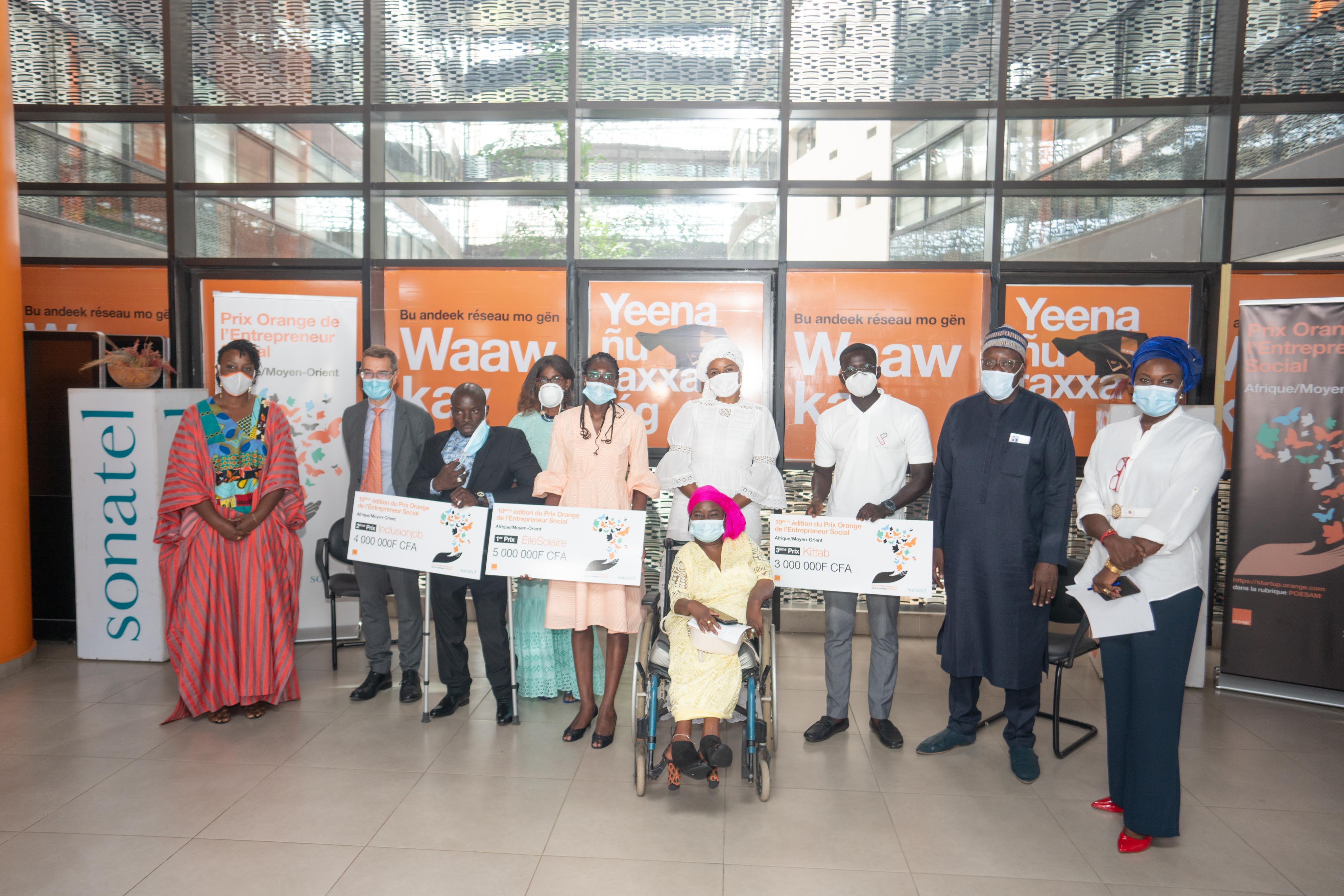 10ème édition du Prix Orange de l'Entrepreneur Social : les 3 lauréats 2020 connus