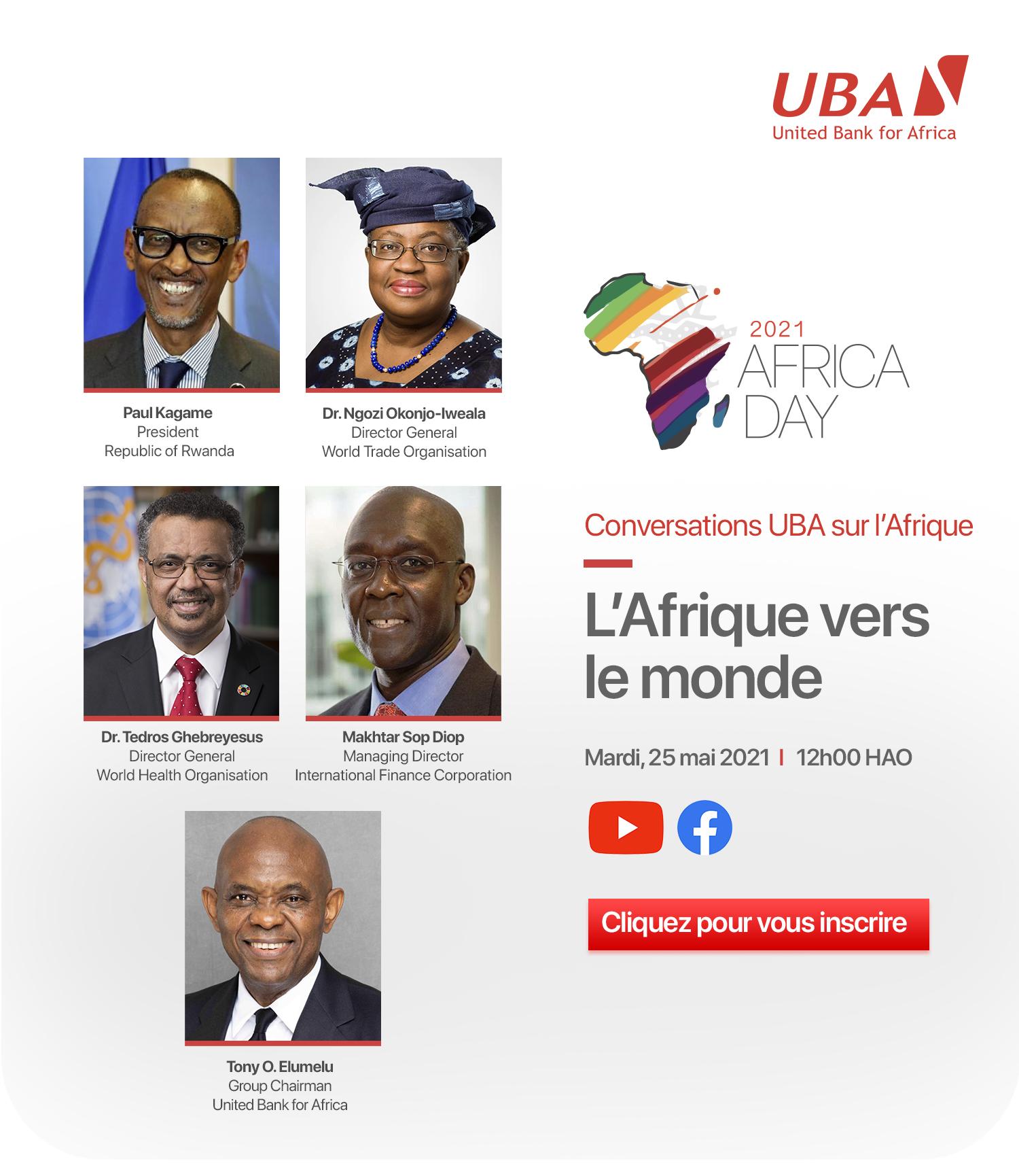 JOURNEE MONDIALE DE L'AFRIQUE : UBA organise une rencontre virtuelle pour accompagner le leadership africain